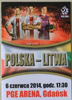 polska litwa 06 06 2014 mecz towarzyski programy