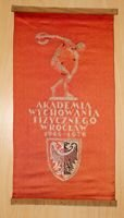 30 years of Wroclaw Physical Culture Academy 1946-1976 pennant