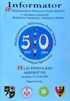 50th Acrobatic gymnastics International Championships of Poland guide