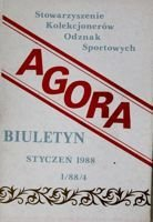 """Agora"" - Bulletin of Sport Souvenirs Collectors Association - volume 1(4)/1988"