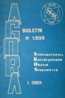 """Agora"" - Bulletin of Sport Souvenirs Collectors Association - volume 1(8)/1989"