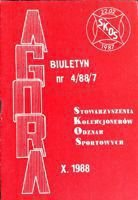 """Agora"" - Bulletin of Sport Souvenirs Collectors Association - volume 4 (1988)"