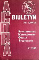 """Agora"" - Bulletin of Sport Souvenirs Collectors Association - volume 5 (1990)"