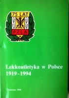Athletics in Poland 1919 - 1994