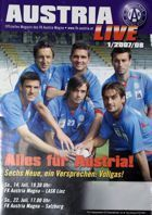 Austria Wien - LASK Linz and RB Salzburg T-Mobile Bundesliga programme (14 and 22.07.2007)