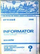 Bulletin of Polish Sport Souvenirs Collectors Association - volume 1 (1981)