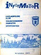 Bulletin of Polish Sport Souvenirs Collectors Association - volume 9 (1983)
