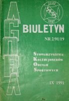 "Bulletin of Sport Souvenirs Collectors Association ""Agora"" nr 2(19)/1991"