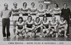 CWKS Resovia - Volleyball Champion of Poland 1975 postcard