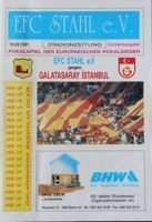 FC Stahl Eisenhüttenstadt - Galatasaray Istambul Cup Winners' Cup programme (18.09.1991)