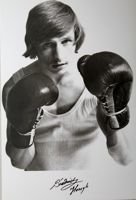 Henryk Srednicki (boxing) - The Poland Champion 1974 and 1975 paperweight postcard
