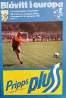 IFK Goteborg - AS Roma European Cup (28.09.1983) match programme