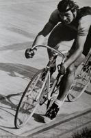 Janusz Kierzkowski (cycling) - 1973 World Champion of 1 km cycling track postcard