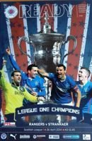 Match program Rangers - Stranraer 26.04.2014