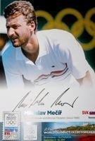 Miroslav Mecir (tennis) - Olympic winner and bronze medalist Seoul 1988 (with original autograph)