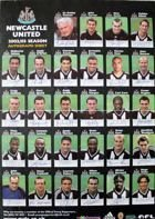 Newcastle United team 2002-2003 autograph sheet