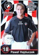 Pawel Hajduczek (Polonia Warsaw, 2003/2004 season) photo