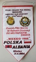 Poland - Albania World Cup 1986 qualification match (31.10.1984) pennant