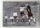 Poland - England (2:0) World Cup qualification match (1973) postcard