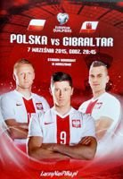 Poland - Gibraltar Euro 2016 qualification match official programme (07.09.2015)