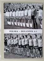 Poland - Netherlands (4:1) Euro 1976 qualication match postcard