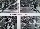 Poland - Peru 1:0 World Cup 1978 (football) postcard