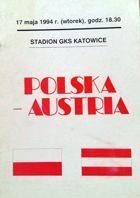 Programme Poland - Austria friendly match (17.05.1994)
