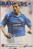 Rangers FC - Hearts Scottish Premier League programme (16.08.2008)