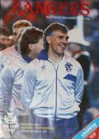 Rangers FC - Motherwell FC Premier Division matchday programme (28.03.1987)