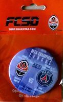 Shakhtar Donetsk - Paris Saint-Germain FC UEFA Champions League match (30.09.2015) badge