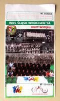 Slask Wroclaw Second league match ticket (2007)