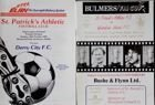 St. Patrick's Athletic FC official programmes 1986-1987 (2 items)