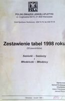 Summary tables 1998 years Seniors Youths Polish Athletics Federation