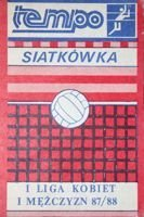 """Tempo"" sport magazine - The Poland Volleyball I League women's and man's 1987/1988 fans guide"