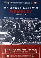 The FA Trophy and The FA Vase Finals official matchday programme (22.05.2016)