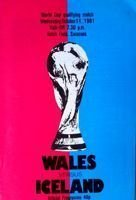 Wales - Iceland World Cup qualifying match programme (14.10.1981)