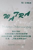 """Watra"" - Bulletin of Sport Collectors Association TS Tramwaj nr 1(8)/1995"