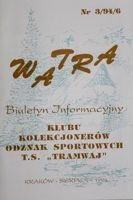 """Watra"" - Bulletin of Sport Collectors Association TS Tramwaj nr 3(6)/1994"