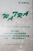 """Watra"" - Bulletin of Sport Collectors Association TS Tramwaj nr 4(11)/1995"