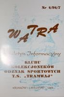 """Watra"" - Bulletin of Sport Collectors Association TS Tramwaj nr 4(7)/1994"