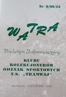 """Watra"" - Bulletin of Sport Collectors Association TS Tramwaj nr 5(12)/1995"