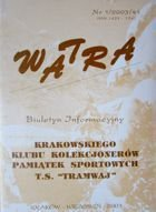 """Watra"" - News bulletin of Sport Collectors Association TS Tramwaj nr 1/2003"