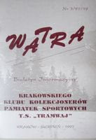 """Watra"" - News bulletin of Sport Collectors Association TS Tramwaj nr 3/1997"