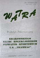 """Watra"" - News bulletin of Sport Collectors Association TS Tramwaj nr 5/2001"
