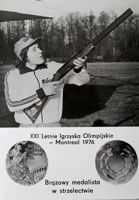 Wiesław Gawlikowski (shooting) - The Bronze medalist of Olympic Games Montreal 1976 postcard