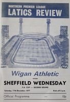 Wigan Athletic - Sheffield Wednesday FA Cup official programme (17.12.1977)