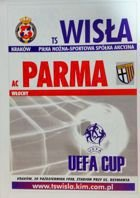Wisla Cracow - AC Parma UEFA Cup match (20.10.1998) programme