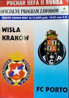 Wisla Cracow - FC Porto UEFA Cup match official programme (26.10.2000)