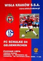 Wisla Cracow - FC Schalke 04 UEFA Cup match official programme (28.11.2002)