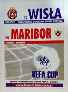 Wisla Cracow - NK Maribor UEFA Cup match (29.09.1998) programme